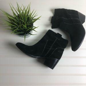 Vince Camuto Black western booties 8.5